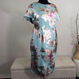 JM Studio By John Meyer Mint Floral Dress Sz 18W